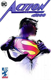Cover Thumbnail for Action Comics (DC, 2011 series) #1000 [Forbidden Planet / Jetpack Comics Exclusive Jock Variant Cover]
