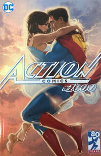 Cover Thumbnail for Action Comics (DC, 2011 series) #1000 [Third Eye Comics Exclusive Kaare Andrews Cover]