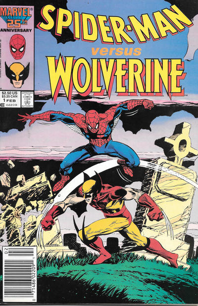 Cover for Spider-Man vs. Wolverine (Marvel, 1987 series) #1