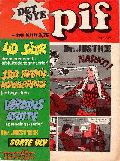 Cover for Pif (Egmont, 1973 series) #1/1975