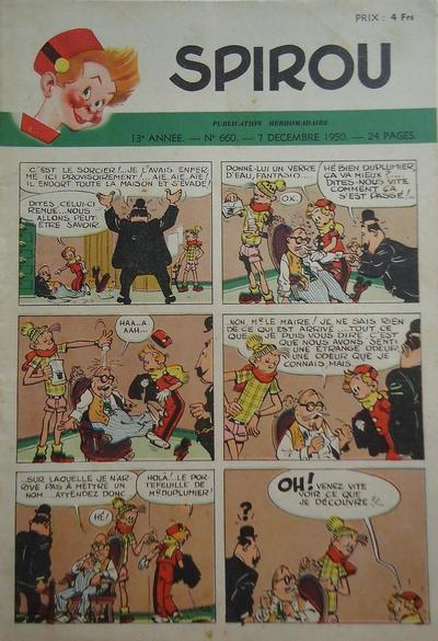 Cover for Spirou (Dupuis, 1947 series) #660