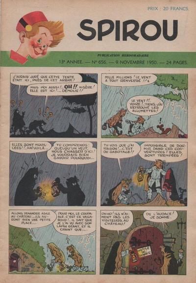 Cover for Spirou (Dupuis, 1947 series) #656