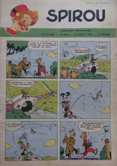 Cover for Spirou (Dupuis, 1947 series) #645