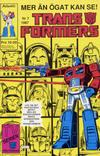 Cover for Transformers (Atlantic Förlags AB, 1987 series) #7/1987
