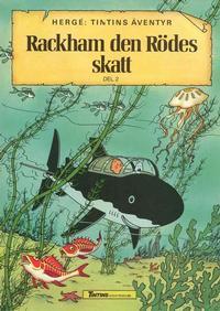 Cover Thumbnail for Tintins äventyr (Nordisk bok, 1984 ? series) #TT002/862; [214] - Rackham den rödes skatt del 2