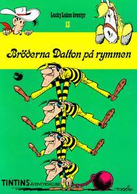 Cover Thumbnail for Lucky Lukes äventyr (Nordisk bok, 1984 series) #T-013B/099; 13 [T-099] - Bröderna Dalton på rymmen