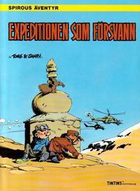 Cover Thumbnail for Spirous äventyr (Nordisk bok, 1984 series) #[300] - Expeditionen som försvann