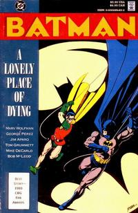 Cover Thumbnail for Batman: A Lonely Place of Dying (DC, 1990 series)  [Direct]