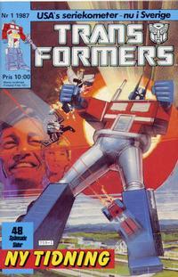 Cover for Transformers (Atlantic Förlags AB, 1987 series) #1/1987