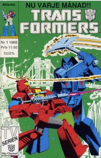 Cover Thumbnail for Transformers (Atlantic Förlags AB, 1987 series) #1/1988