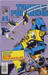 Cover Thumbnail for Transformers (Atlantic Förlags AB, 1987 series) #10/1988