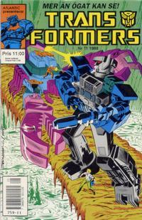 Cover Thumbnail for Transformers (Atlantic Förlags AB, 1987 series) #11/1988