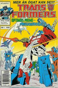 Cover Thumbnail for Transformers (Atlantic Förlags AB, 1987 series) #1/1989