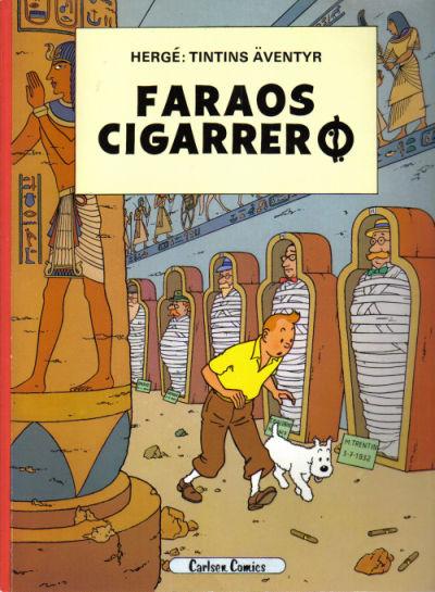 Cover for Tintins äventyr (Carlsen/if [SE], 1972 series) #5 - Faraos cigarrer