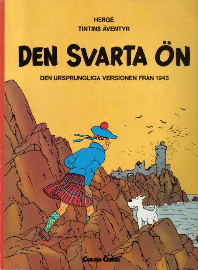 Cover for Tintins äventyr (Carlsen/if [SE], 1972 series) #25 - Den svarta ön
