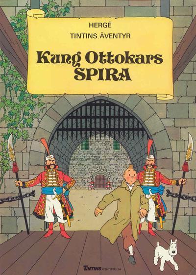Cover for Tintins äventyr (Nordisk bok, 1984 ? series) #T-025 [203] - Kung Ottokars spira