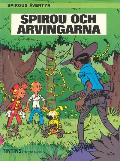 Cover for Spirous äventyr (Nordisk bok, 1984 series) #T-032 [210] - Spirou och arvingarna