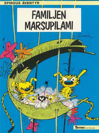Cover for Spirous äventyr (Nordisk bok, 1984 series) #T-047 [230] - Familjen Marsupilami