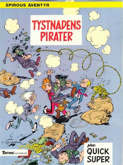Cover for Spirous äventyr (Nordisk bok, 1984 series) #T-051A [234] - Tystnadens pirater