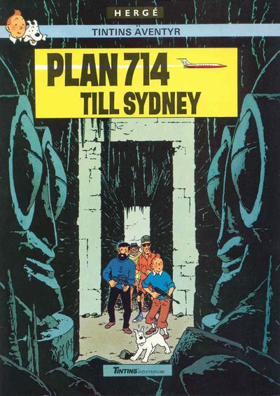 Cover for Tintins äventyr (Nordisk bok, 1984 ? series) #T-061; [246] - Plan 714 till Sydney