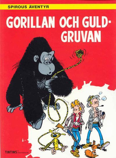 Cover for Spirous äventyr (Nordisk bok, 1984 series) #T-086 [276] - Gorillan och guldgruvan