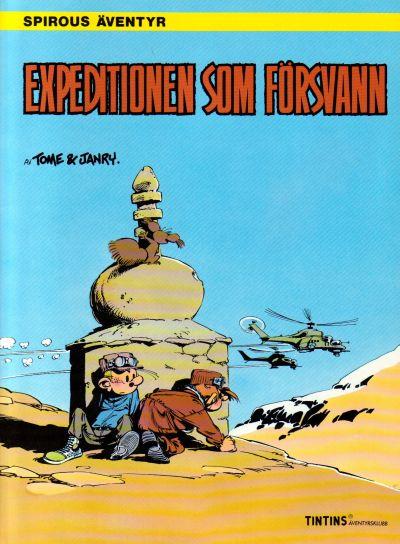 Cover for Spirous äventyr (Nordisk bok, 1984 series) #[300] - Expeditionen som försvann