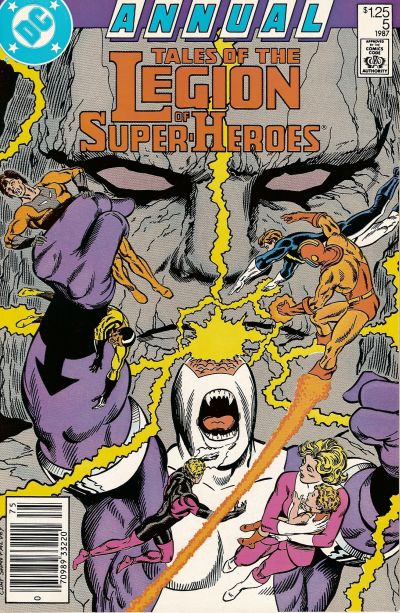 Cover for Tales of the Legion of Super-Heroes Annual (DC, 1986 series) #5 [Direct]