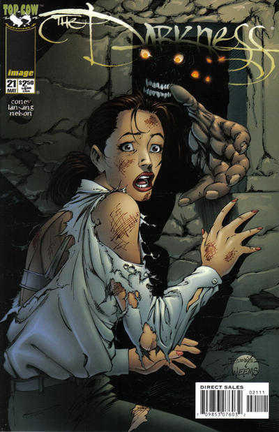 Cover for The Darkness (Image, 1996 series) #21 [Newsstand Edition]
