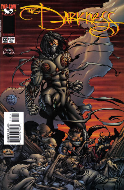 Cover for The Darkness (Image, 1996 series) #22 [Newsstand Edition]