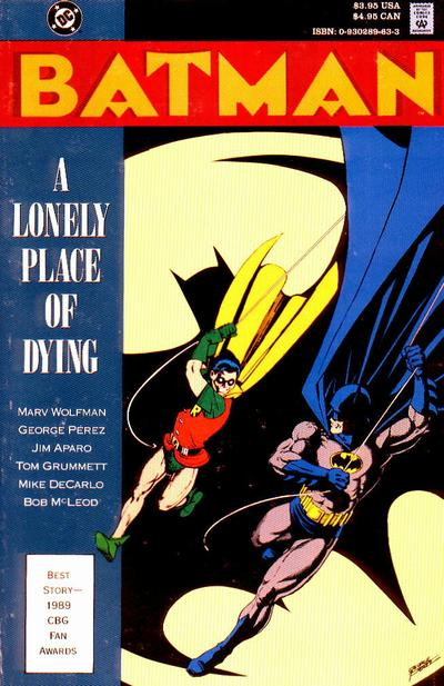 Cover for Batman: A Lonely Place of Dying (DC, 1990 series)  [Direct]