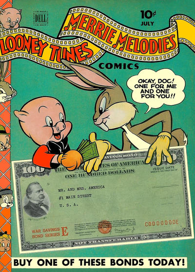 Cover for Looney Tunes and Merrie Melodies Comics (Dell, 1941 series) #33