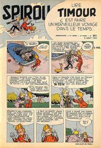 Cover Thumbnail for Spirou (Dupuis, 1947 series) #851