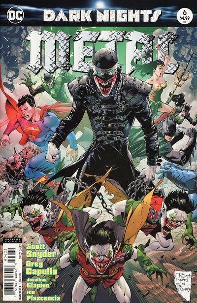 Cover for Dark Nights: Metal (DC, 2017 series) #6 [Greg Capullo & Jonathan Glapion Cover]