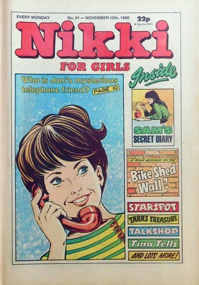Cover for Nikki for Girls (D.C. Thomson, 1985 series) #91