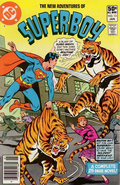 Cover for The New Adventures of Superboy (DC, 1980 series) #13 [Newsstand]