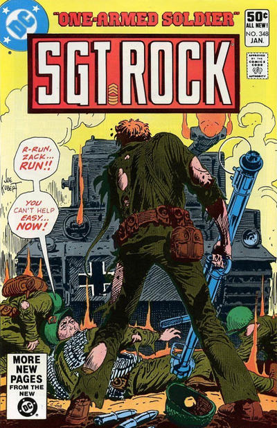 Cover for Sgt. Rock (DC, 1977 series) #348 [Newsstand]