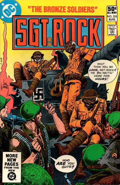 Cover for Sgt. Rock (DC, 1977 series) #355 [Newsstand]