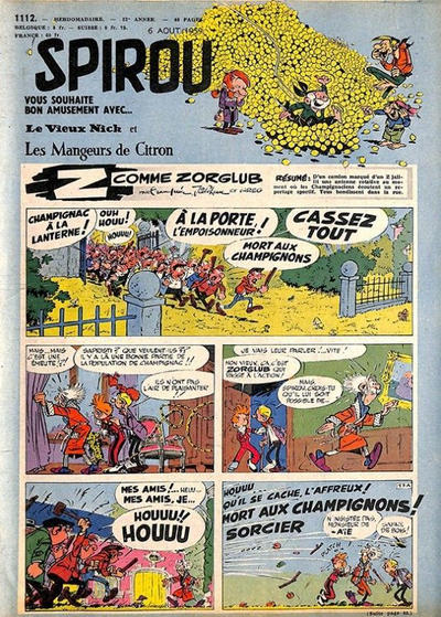 Cover for Spirou (Dupuis, 1947 series) #1112