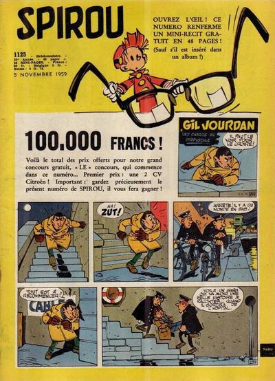 Cover for Spirou (Dupuis, 1947 series) #1125