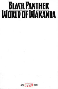 Cover Thumbnail for Black Panther: World of Wakanda (Marvel, 2017 series) #1 [Blank Cover Variant]