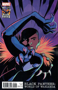 Cover Thumbnail for Black Panther: World of Wakanda (Marvel, 2017 series) #1 [Natacha Bustos Black Panther 50th Anniversary Variant]