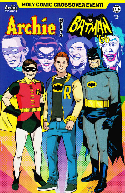 Cover for Archie Meets Batman '66 (Archie, 2018 series) #2 [Cover A Michael and Laura Allred]