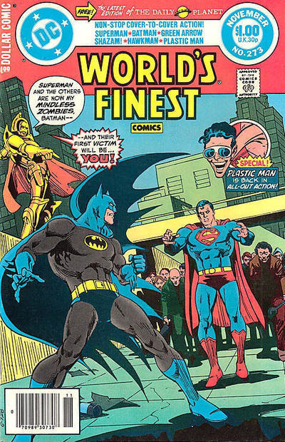 Cover for World's Finest Comics (DC, 1941 series) #273 [Newsstand]
