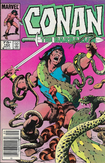 Cover for Conan the Barbarian (Marvel, 1970 series) #162 [Canadian]
