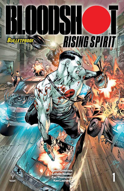 Cover for Bloodshot Rising Spirit (Valiant Entertainment, 2018 series) #1 [Legends Comics & Games - Josh Adams]