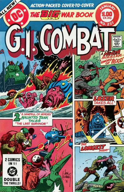 Cover for G.I. Combat (DC, 1957 series) #237 [Newsstand]