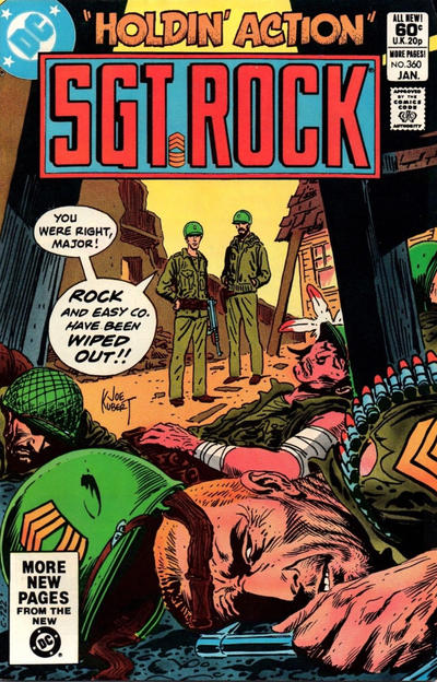 Cover for Sgt. Rock (DC, 1977 series) #360 [Direct]