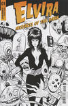 Cover for Elvira: Mistress of the Dark (Dynamite Entertainment, 2018 series) #1 [Cover I Black and White Kyle Strahm]