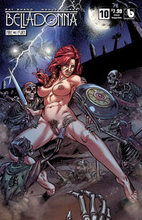 Cover for Belladonna: Fire and Fury (Avatar Press, 2017 series) #10 [Viking Vixen Nude Cover]