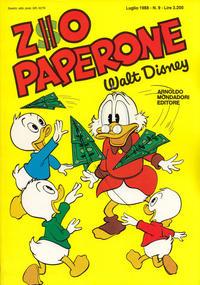 Cover Thumbnail for Zio Paperone (Arnoldo Mondadori Editore, 1987 series) #9